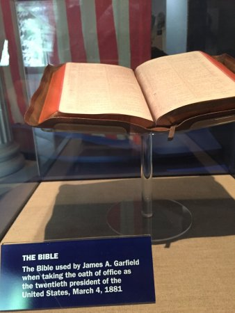 Mentor, OH: bible used by garfield at swearing in