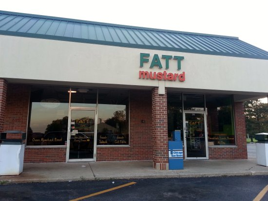 Elk Grove Village, IL: front of & entrance to Fatt Mustard