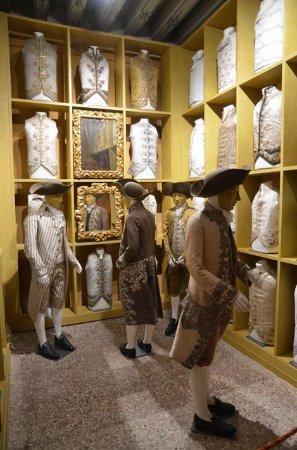 Palazzo Mocenigo: wonderful waistcoats to see... embroidery was spectacular