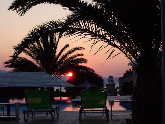 Kastraki, Greece: cocktail and sunset...