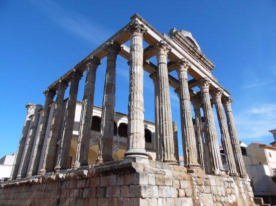 Templo de Diana: vue d'en bas