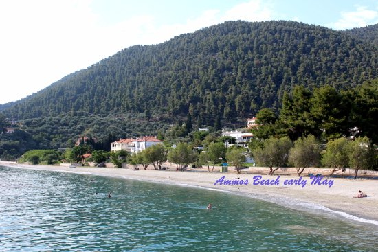 Neo Klima, اليونان: Ammos Paralia 5' walk from Elios Holidays Hotel