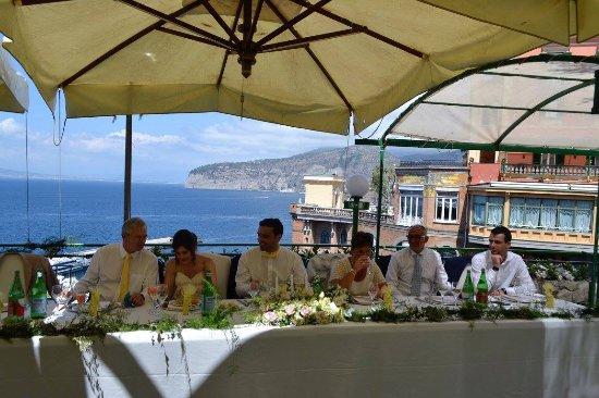 Wedding top table - Picture of Terrazza delle Sirene, Sorrento ...