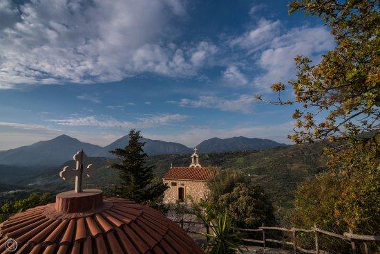 Axos, Greece: From very nearby chapel