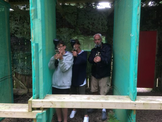 Pickering, UK: PaintBall shooting