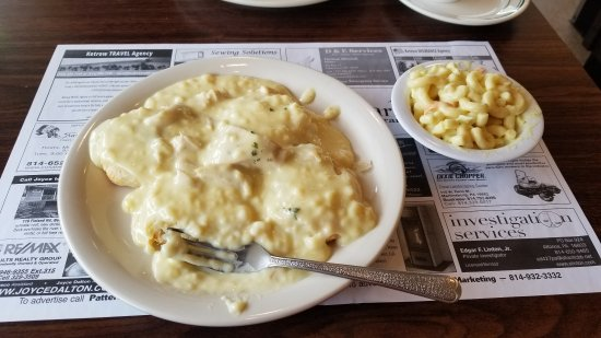 Bedford, PA: Creamed chicken and biscuits