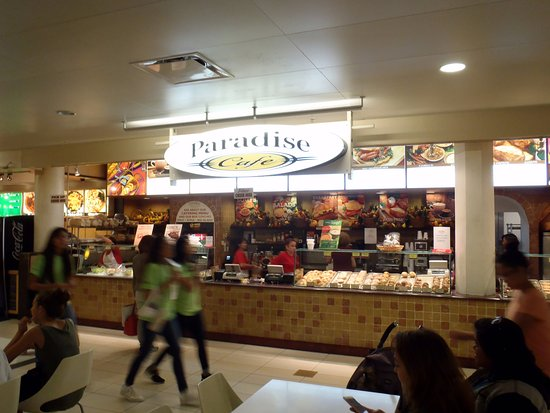 the Paradise Cafe counter in the Makai Market food court of the Ala Moana Center