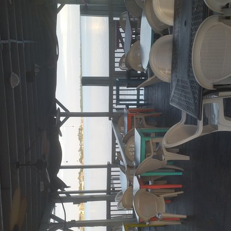 Matlacha, FL: Great views from the open air deck at Hooked Island Grill.