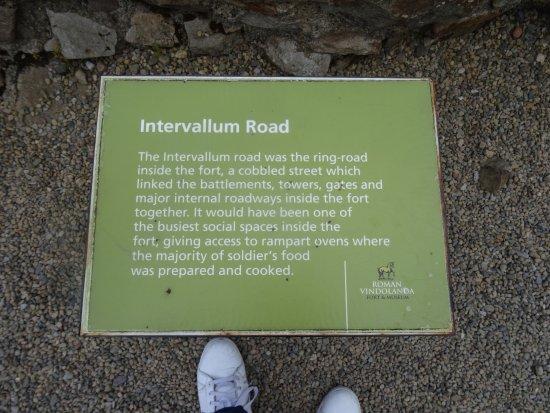 Hexham, UK: ring road sign