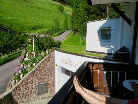Garni Cudlea: Uitzicht vanaf balkon