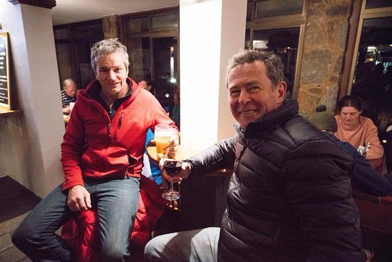 Thredbo Village, Australia: Guests on our opening weekend enjoying drinks and food at the Bar and Brasserie
