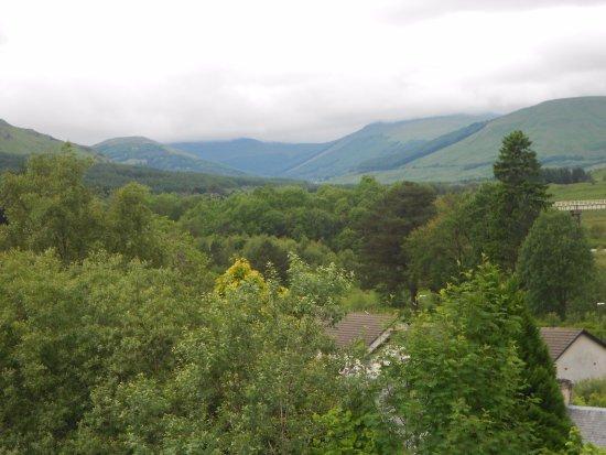 Crianlarich, UK: forest walk near hotel