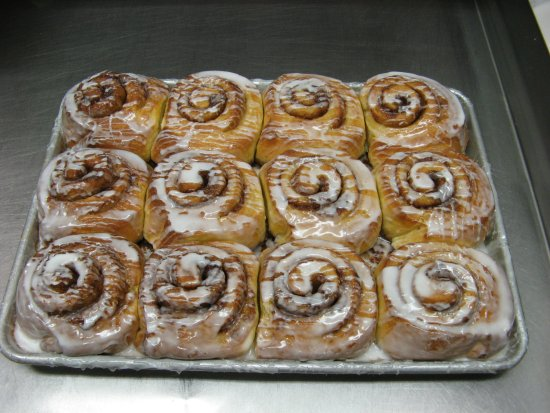 Crystal Lake, IL: Cinnamon Bunns, made in limited quantities so you get them fresh!