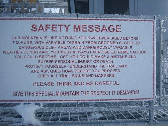 Lubang Jackson, WY: Om de volgende waarschuwing te lezen...........