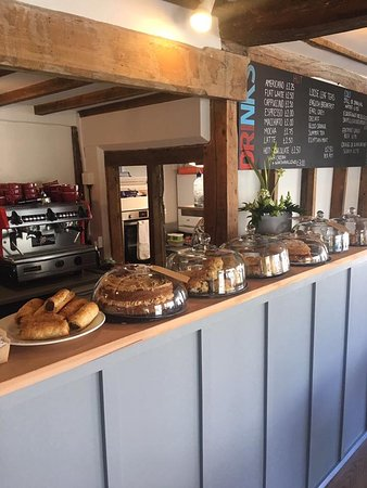 Dedham, UK: Our selection of homemade cakes and pastries (we offer gluten and dairy free options)