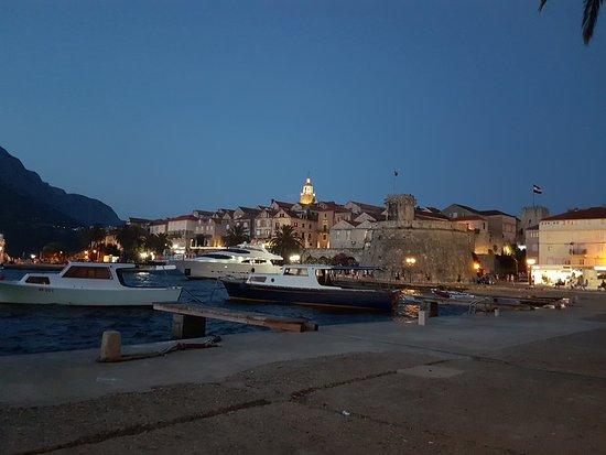 Korcula Island, Kroatia: Akşam manzara