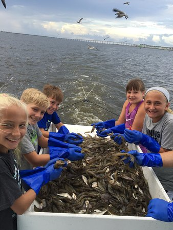 Manteo, Caroline du Nord : Whether crabbing, fishing or shrimping.....kids love it!