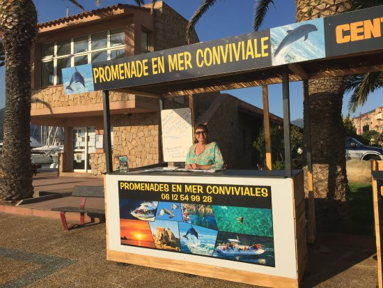 Propriano, France: charmant accueil de Martine sur le port de plaisance