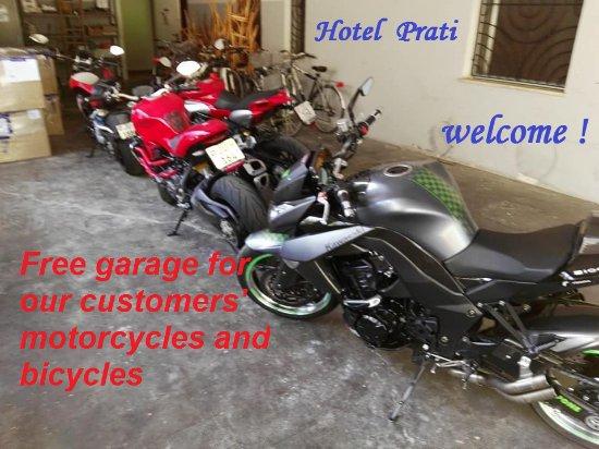 Castrocaro Terme e Terra del Sole, Italy: Garage gratis moto/bici