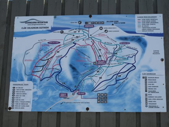 Aviemore, UK: Trail map