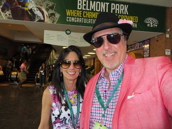 ROSARIO CASSATA AND CAROLYN AT BELMONT PARK IN ELMONT, NEW YORK