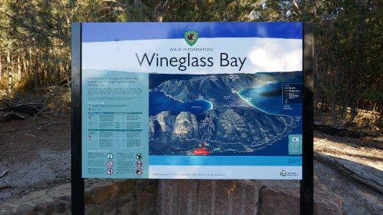 Coles Bay, Australia: 案内看板