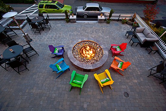 Surfside Hotel & Suites: Enjoy the glow of our fire pit before you walk to your favorite Ptown watering hole.