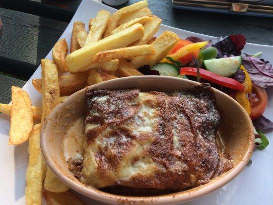 Builth Wells, UK: Beef lasagna