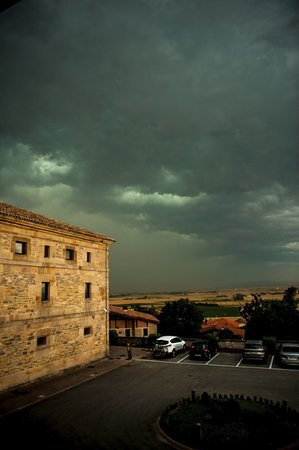 Argomaniz, Spain: A storm over the Parador!