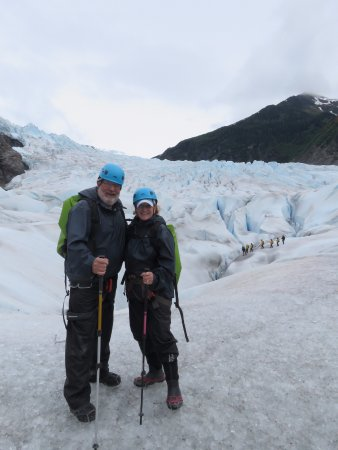 Above & Beyond Alaska: hiking on the glacier