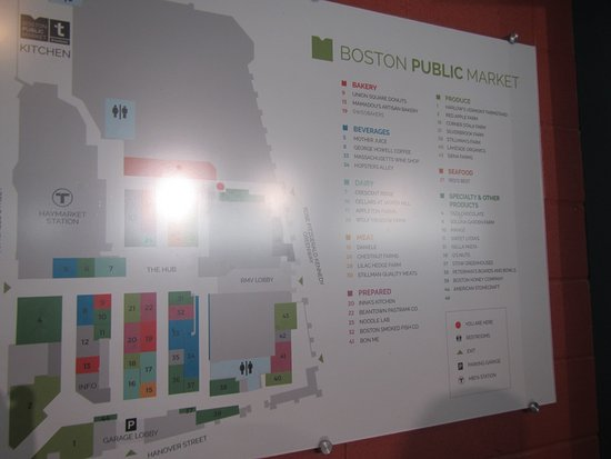 Map of the market  Picture of Boston Public Market Boston
