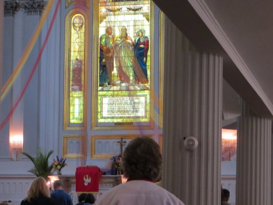 Kingston, NY: Stained glass was beautiful
