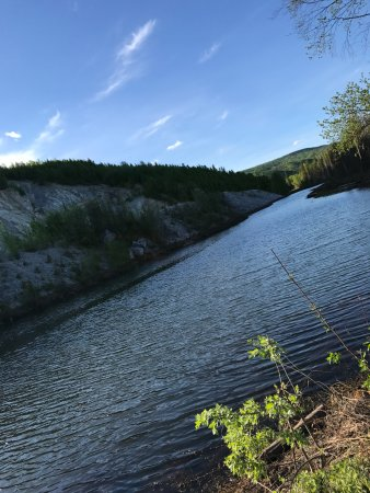 Chena River State Recreation Area: The Chena river behind the campground. Some sites back up to this