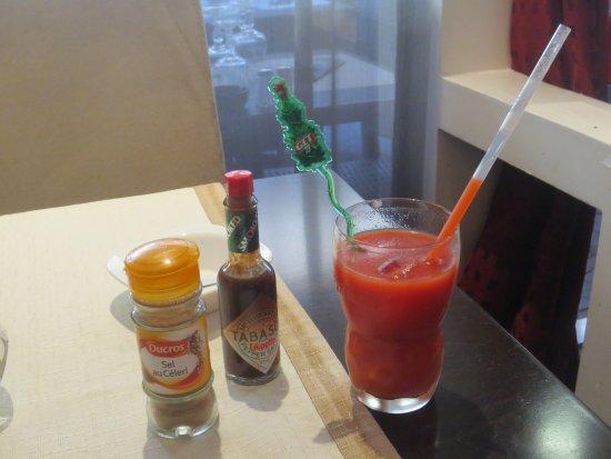Restaurant L'Ecuelle : Jus de tomate