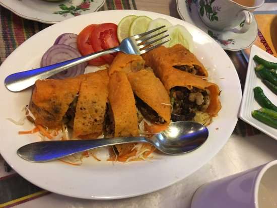Red Pepper Spring Rolls - light and tasty
