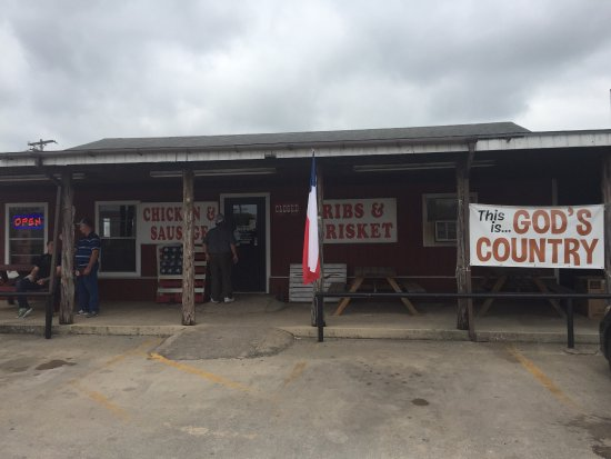 BoMax:  Heavy's BBQ in Hondo Texas.   Great food...Top 50 BBQ in Texas Monthly.  See BBQ sign of