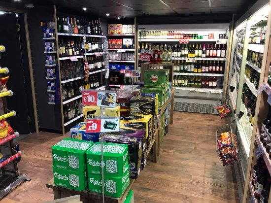 Holsworthy, UK: extensive off licence