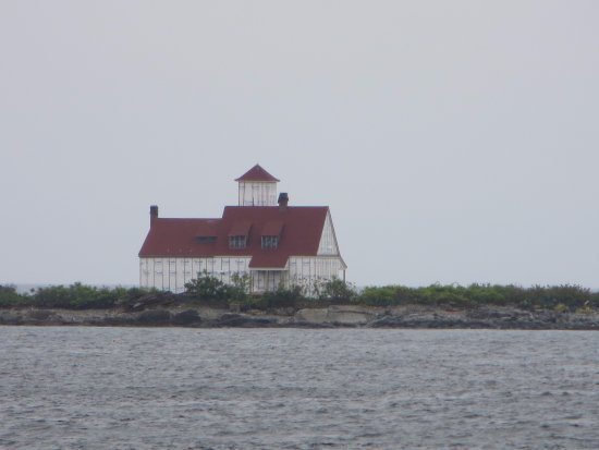 New Castle, NH: Wood Island Life- Saving Station seen from the fort
