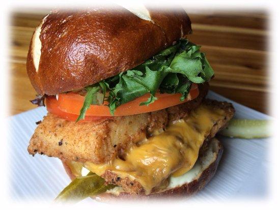 One Duke Restaurant & Lounge: Double Stack Cajun Fish Sandwich, LUNCH menu at One Duke