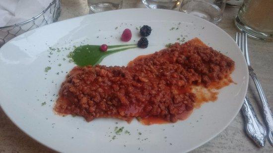Campiglia Marittima, Italia: Ravioli ragù cinghiale