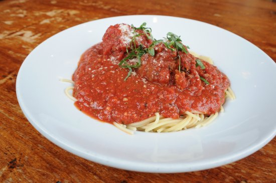 Spaghetti and meatballs picture of andolini 39 s pizzeria for Andolinis