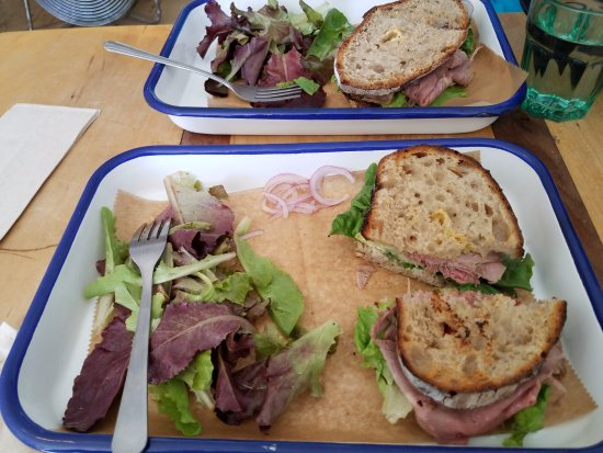 Shelburne Falls, MA: home made breads, quality meats and local produce