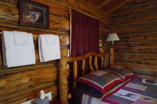 Alaska Creekside Cabins: The Burl cabin.