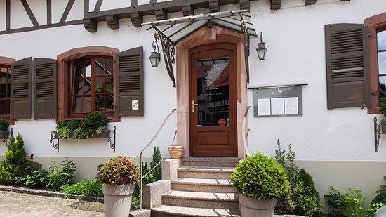 Mittelbergheim, Франция: porta do restaurante