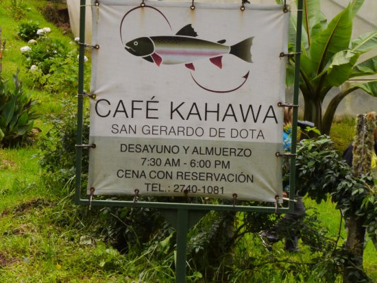 San Gerardo de Dota, Costa Rica: the sign