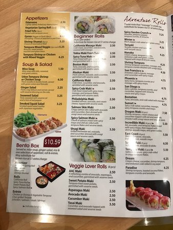Lombard, IL: Kai Sushi Restaurant- menu