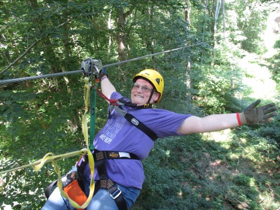 Makanda, Ιλινόις: 29 yrs surviving cancer; 57 yrs of living; zipping at SBCT: Priceless!