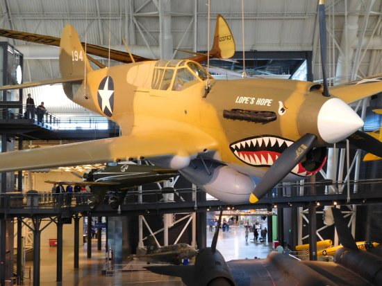 Chantilly, VA: P-40 Warhawk. This is the aircraft the Flying Tigers used. Also widely used by the Army Air Corp