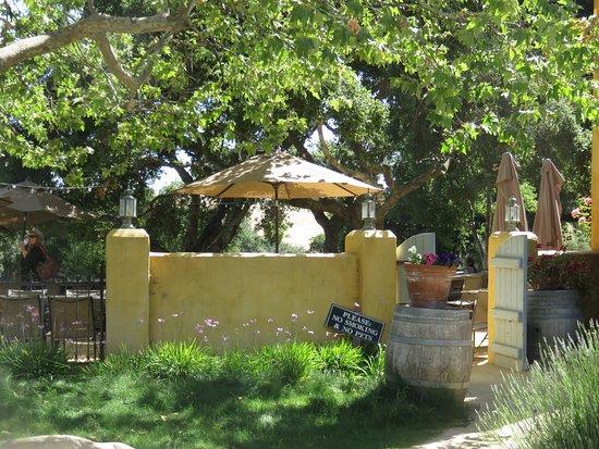 Los Olivos, CA: A view of the garden area