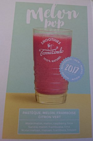 Hauteluce, France: Le Melon Pop, un smoothie mixé eau ou lait ...